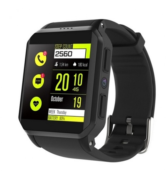Smartwatch KW06 impermeabile IP68 3G sim card Android 5.1 cardiofrequenzimetro notifiche bluetooth Compatibile Android e Ios