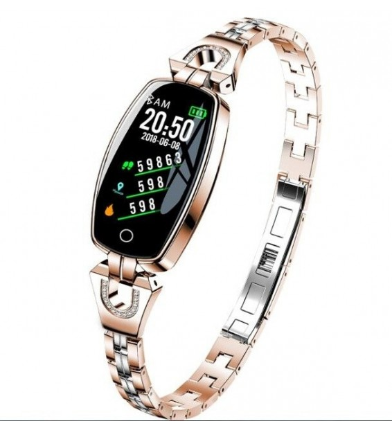 Smart band activity tracker Donna H8 cardiofrequenzimetro bluetooth compatibile Android e iOS gold