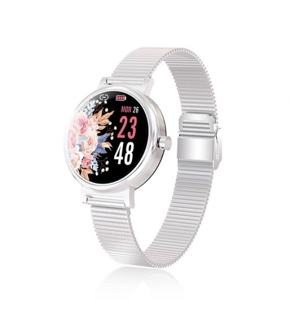 Smartwatch donna LW06 waterproof ip68 bluetooth notifiche per android e ios silver