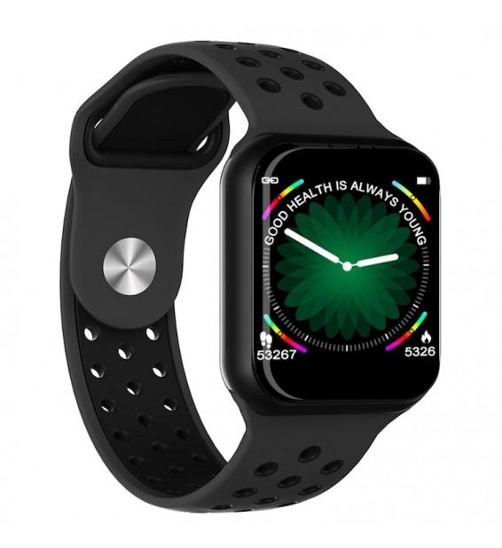 Smartwatch F8 bluetooth activity tracker cardio notifiche fitness compatibile Android e iOS black