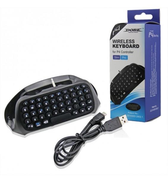 Tastiera di gioco elettronica Qwerty Bluetooth 3.0 per controller DualSock4 PS4 SLIM / PS4 PRO/ PS4