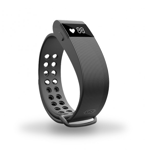 Smart band Bracelet con Cardiofrequenzimetro nero