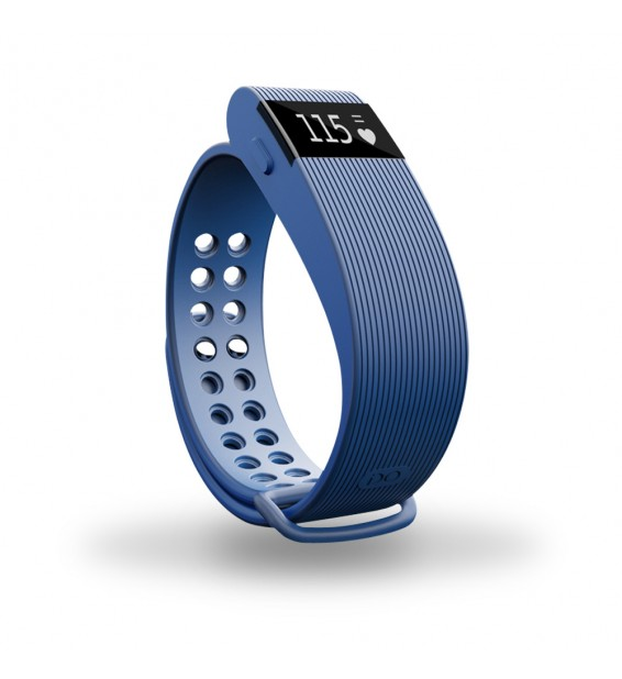 Smart band Bracelet con Cardiofrequenzimetro blu