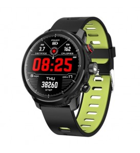 Smartwatch L5 impermeabile IP68 bluetooth activity tracker cardio Modalità multi sport notifiche fitness green