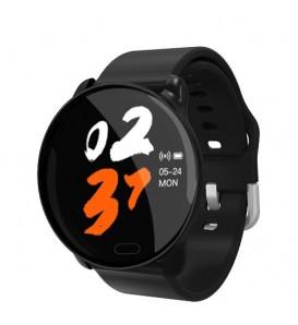 Smart band K9 bluetooth activity tracker cardio notifiche pressione sanguigna fitness per Android e iOS nero