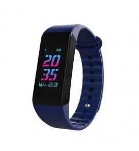 Smart band W6S activity tracker fitness cardiofrequenzimetro pressione sanguigna BLU