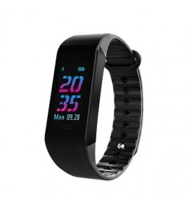Smart band W6S activity tracker fitness cardiofrequenzimetro pressione sanguigna nero