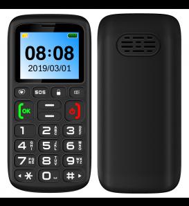 Telefono cellulare dual Sim GSM 2G MP3 FM radio nero tasto SOS slot TF card