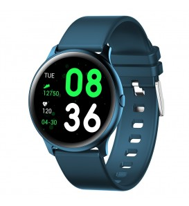 Smartwatch KW19 bluetooth notifiche cardio multi sport pedometro calorie blue
