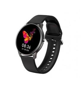 Smartwatch LW02 impermeabile IP68 bluetooth notifiche cardio multi sport pedometro calorie nero