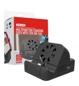Mini Dock Station base ricarica con ventola per Nintendo Switch uscita HDMI per TV