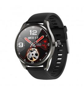 Smartwatch KW35 waterproof IP68 bluetooth notifiche cardio multi pedometro nero
