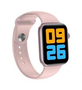 Smartwatch V41 waterproof IP68 bluetooth notifiche cardio multisport pedometro rosa