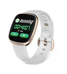 Smartband GT103 bluetooth activity tracker cardiofrequenzimetro notifiche bianco