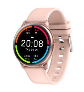 Smartwatch donna KW13 bluetooth waterproof IP68 notifiche cardio multi-sport pedometro rosa