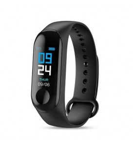 Smart band activity tracker M3 plus cardiofrequenzimetro bluetooth notifiche nero