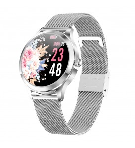 Smartwatch donna LW07 waterproof IP68 bluetooth notifiche compatibile Android e iOS silver