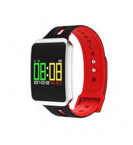 Smartwatch TF1 water resist IP68 activity tracker fitness cardio pedometro calorie notifiche red