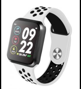 Smartwatch F8 bluetooth activity tracker cardio notifiche fitness compatibile Android e iOS bianco
