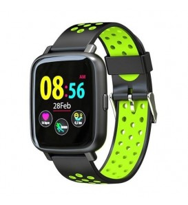 Smartwatch SN12 water resist IP68 activity tracker fitness cardio pedometro calorie notifiche nero/green