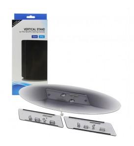 PS4 Slim / Pro Vertical Stand Supporto trasparente verticale 2in1 per console di gioco