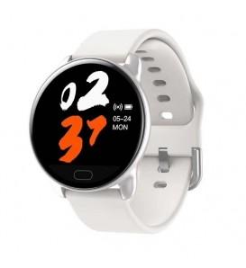 Smart band K9 bluetooth activity tracker cardio notifiche pressione sanguigna fitness per Android e iOS bianco