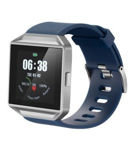 Smartwatch MTS001 bluetooth cardiofrequenzimetro bluetooth compatibile Android e iOS silver