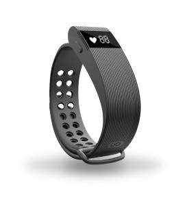 Smart band Bracelet con Cardiofrequenzimetro nero