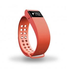 Smart band Bracelet con Cardiofrequenzimetro arancione