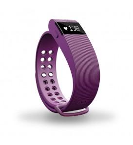 Smart band Bracelet con Cardiofrequenzimetro viola