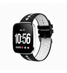 Smart band V6 activity tracker fitness cardiofrequenzimetro pedometro calorie sleep monitor notifiche white