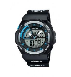 Orologio uomo LORUS digitale e analogico sveglia cronografo wr 100 metri - R2323MX9