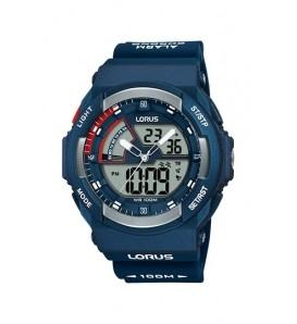 Orologio uomo LORUS digitale e analogico cronografo wr 100 metri - R2325MX9