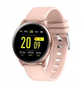 Smartwatch KW19 bluetooth notifiche cardio multi sport pedometro calorie rosa