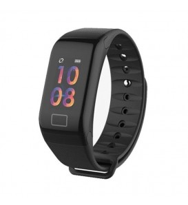 Smart band F1 activity tracker fitness cardiofrequenzimetro pedometro calorie notifiche nero