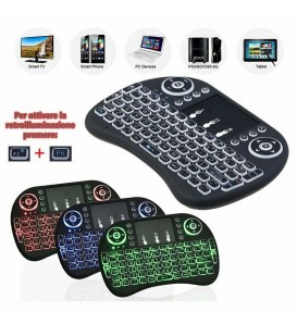 7 color backlit Mini Wireless Keyboard 2.4ghz Air Mouse with Touchpad Remote Control Android TV Box